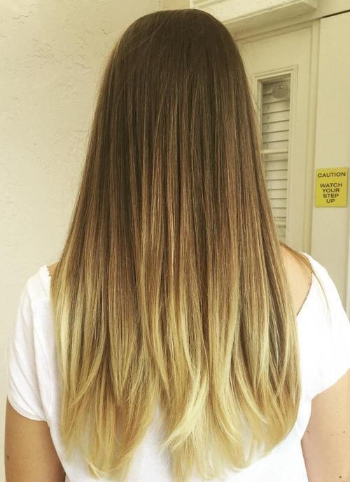 Honey kissed cabelo longo