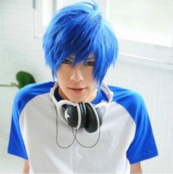 cabelo masculino preto azulado