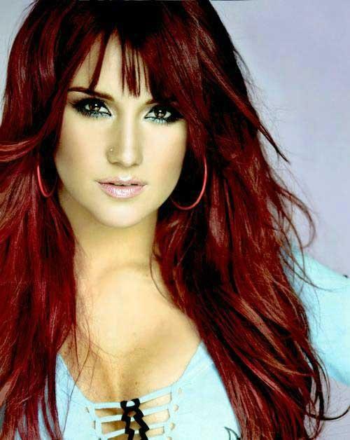 cabelo vermelho cereja koleston