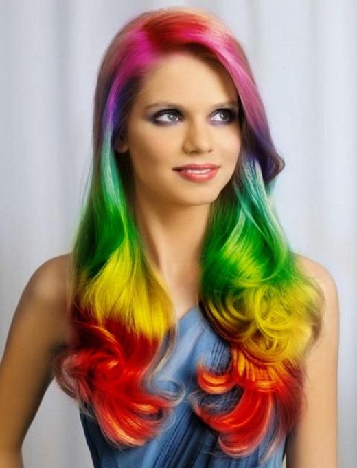 cabelos coloridos da depressão