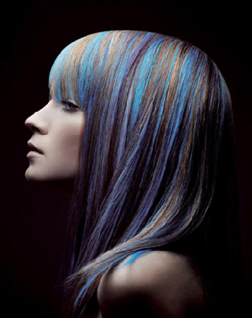 tinta azul para cabelo permanente